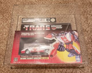 Transformers Hasbro G1 Red Alert Afa 85 Nm,  Rare