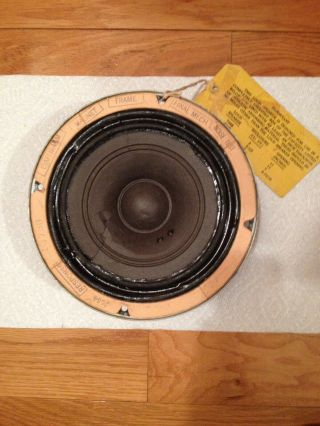 "Vintage Western Electric 755a Full Range Speaker "" Has Cone Damage """