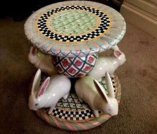Mackenzie Childs Rabbit Coffee/garden Table - Vintage - Hard To Find