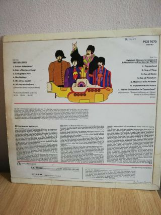 The Beatles - Yellow Submarine RARE PPCS 7070 ODEON 2