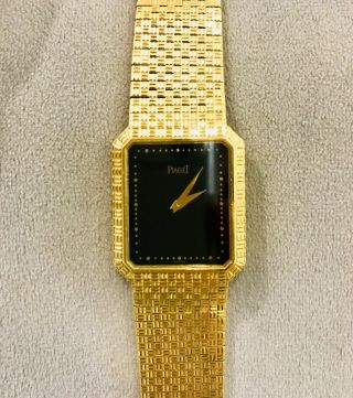 Rare 18k Solid Gold Piaget Wrist Watch Circa 1980s