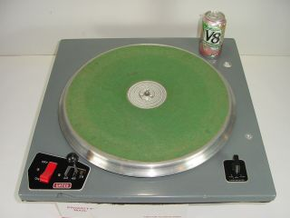 "Vintage Gates Broadcast Cb - 500 16 "" Transcription Turntable W/ Ashland Motor 3 - Sp"