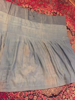 Antique Chinese Pleated Black Gold Dragon Silk Wrap Around Skirt 37x87 Inches 11