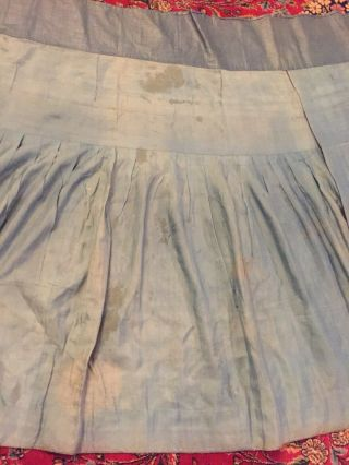 Antique Chinese Pleated Black Gold Dragon Silk Wrap Around Skirt 37x87 Inches 12