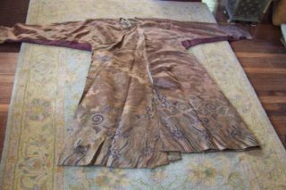 Anitique Chinese Imperial 19th Century Robe/ Longpao Silk Brocade - 5 Toe Dragons,