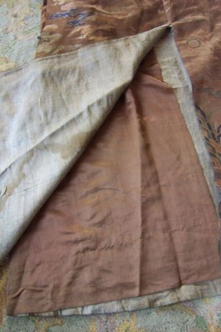Anitique Chinese Imperial 19th century Robe/ Longpao silk brocade - 5 toe dragons, 4
