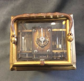 Antique Tiffany & Co Bronze Carriage Clock Repeater Case Keys 13 Jewels France 4