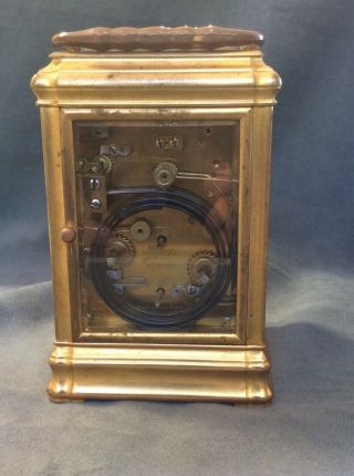 Antique Tiffany & Co Bronze Carriage Clock Repeater Case Keys 13 Jewels France 6