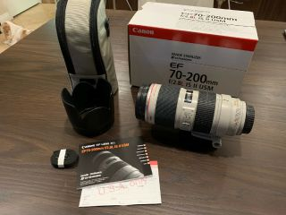 Canon Ef 70 - 200mm 70 - 200 F/2.  8 F2.  8 L Is Ii Usm Uv Filter Rarely