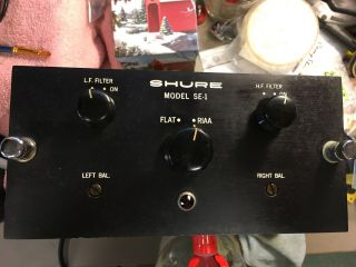 Shure Model Se 1 Tube Phono Preamplifier With Origi Power Supply Ultra Rare