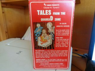 TALES FROM THE QUADEAD ZONE CHESTER TURNER CLASSIC BEYOND RARE VHS 3