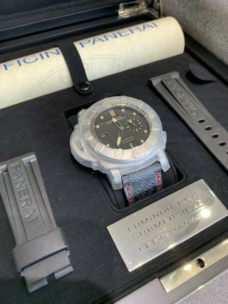 Panerai Submersible 47mm Titanium Left Hand Only Special Edition Rare Lv Band