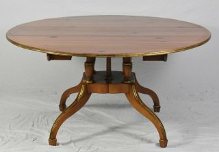 Baker Historic Charleston Pine Round Dining Room Table With 2 Leaves Farmhouse