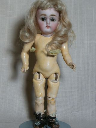 Antique rare Tiny Kestner Doll Mold 155 Jointed Composition Body Orig Outfit 7