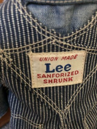 VTG Buddy Lee Hard Conposition Railroad Doll Union Made Striped Overalls Hat 4