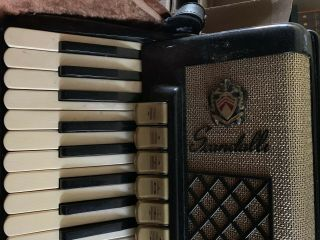 Vintage Italy Scandalli Accordion With Case