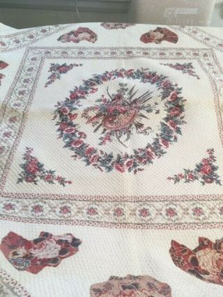 Antique Quilt Circa 1790 Applique With Center Medallion From North Carolina