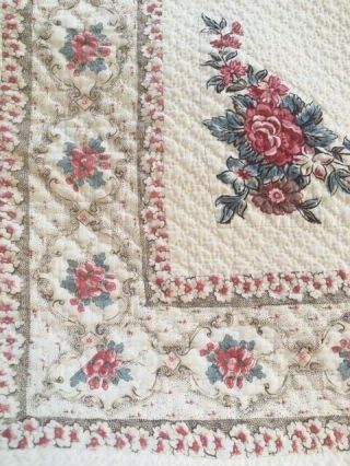 Antique quilt circa 1790 applique with center medallion from North Carolina 5
