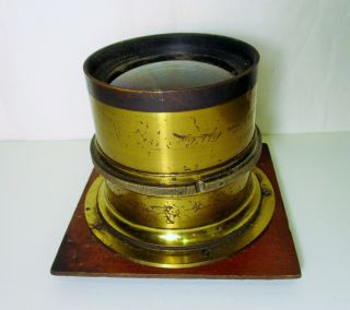 Antique Brass Lens; Voigtlaender & Sons Opt.  Co.  Collinear Series Ii No.  8