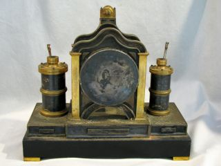 Antique FRENCH MEDAILLE BRONZE MECHANICAL CLOCK - 7