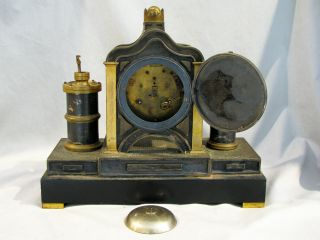 Antique FRENCH MEDAILLE BRONZE MECHANICAL CLOCK - 8