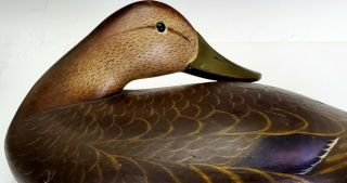 VINTAGE c.  1950 ' s CHARLIE JOINER,  MARYLAND EARLY HAND CARVED WOODEN DUCK DECOY 2