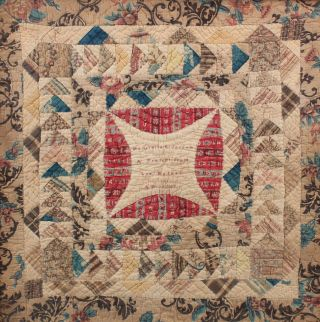 Signed 1847 Antique 19thC Miniature American Folk Art Childs Baby Doll Quilt 3