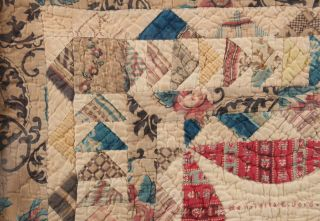 Signed 1847 Antique 19thC Miniature American Folk Art Childs Baby Doll Quilt 4