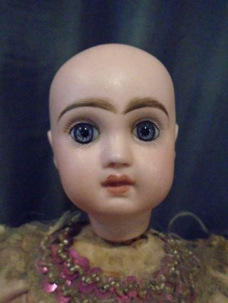 Antique French Jumeau Bisque Doll Automaton Girl & Dog Tricks No Mechanism 10
