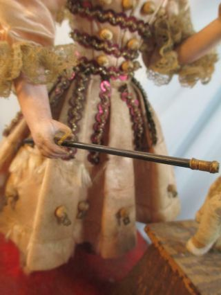 Antique French Jumeau Bisque Doll Automaton Girl & Dog Tricks No Mechanism 12