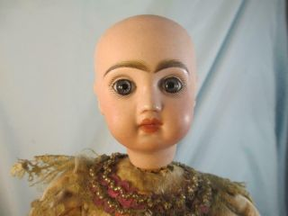 Antique French Jumeau Bisque Doll Automaton Girl & Dog Tricks No Mechanism 3