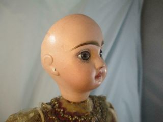 Antique French Jumeau Bisque Doll Automaton Girl & Dog Tricks No Mechanism 4