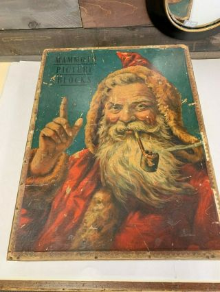 Very Rare Victorian Mcloughlin Bros Mammoth Picture Blocks With Santa
