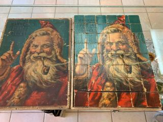 VERY RARE VICTORIAN MCLOUGHLIN BROS MAMMOTH PICTURE BLOCKS WITH SANTA 8