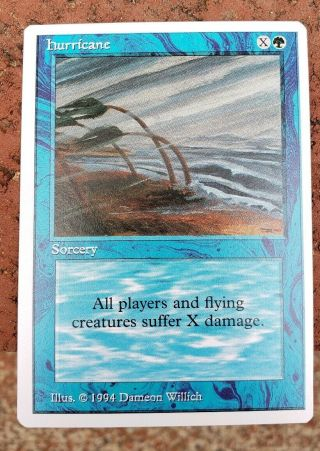 Vintage Magic | Scarce Nm/mint,  Mtg Summer Magic [blue] Hurricane,