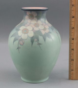 1929 Antique Lenore Asbury Rookwood Flowers Art Pottery Arts & Crafts Vase 2