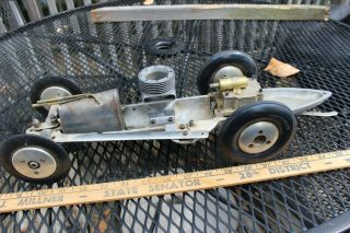 Antique Tether Car Part,  W 7 Fin Dooling.  61 Case