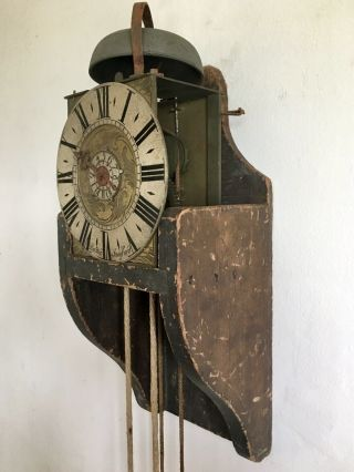 Rare Antique Robert Watts Of Stamford Lantern Clock C.  1730