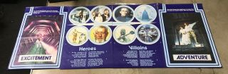 """1977 Star Wars Rare British Double Crown Set Of 4 (20 """" X30 """") Posters"""