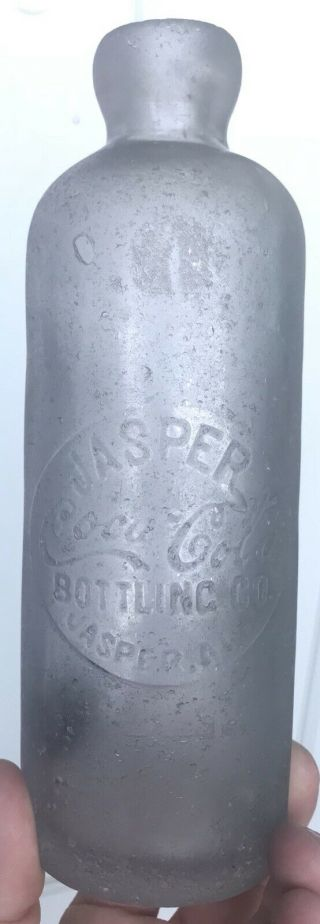Extremely Rare Jasper Ala Alabama Coca Cola Coke Hutchinson Hutch Bottle