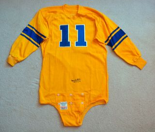 Vintage 1950s Norm Van Brocklin Autographed Los Angeles Rams Game Worn Jersey