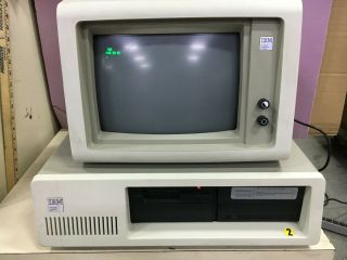 Vintage Ibm Xt Pc,  Model 5160 W/640kb Ram And Ibm 5151 Monitor Only