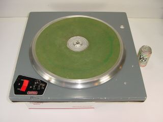 "Vintage Gates Broadcast Cb - 500 16 "" Transcription Turntable W/ Ashland Motor"