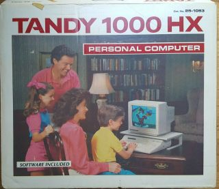 Nib Tandy 1000 Hx Vintage Computer 25 - 1053 Pc Dos With Nib Monitor,  Joysticks