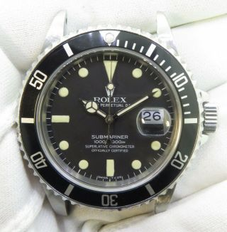 1982 Vintage Rolex Submariner 16800 Steel Wrist Watch With Matt Dial $1 NO RES 2
