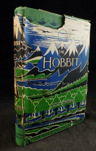 1942 Tolkien,  The Hobbit,  Rare 3rd Edition,  Dust Jacket,