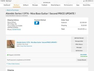 1976 Alembic Series I Vintage Electric Bass Restored 12