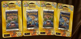 Vintage Pokemon Packs & Decks / 1st Edition Base Set Blister Pack.