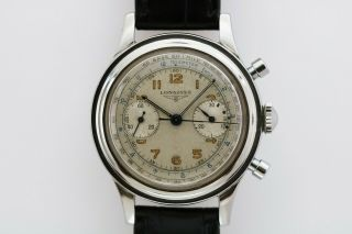 Longines Vintage Mechanical Chronograph Watch 30 Ch Circa 1950s