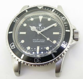 Rare Vintage 1978 Rolex Submariner 5513 Serif Dial Steel Watch Cal 1520 $1 N/res